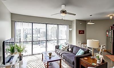 Living Room, Ingersoll Square Lofts, 1