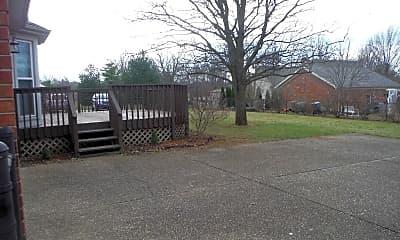 Backyard from driveway, 4404 Mosaic Court, 1