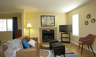 Living Room, Woodcrest Apartments, 1