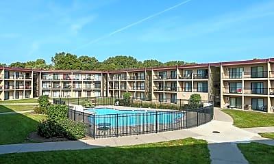 Pool, Courtyard Apartments, 1