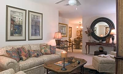 Living Room, Twin Oaks Apartments, 2