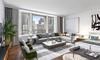 Living Room, 300 E 33rd St 10-F, 0