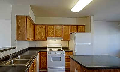 Kitchen, Jazz District and Highland Place Apartments, 1