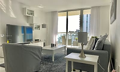Living Room, 1155 Brickell Bay Dr 903, 1