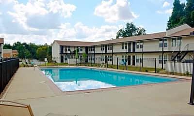 Pool, Courtyard Apartments, 0