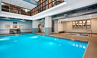 Pool, 100 West Chestnut Apartments, 1