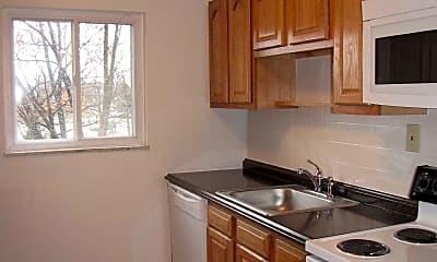 Kitchen, Crest Apartments, 1