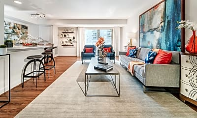 Living Room, Randolph Towers, 0