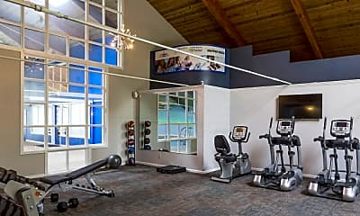 Fitness Weight Room, Evergreen Apartments at Riverfront Heights, 1