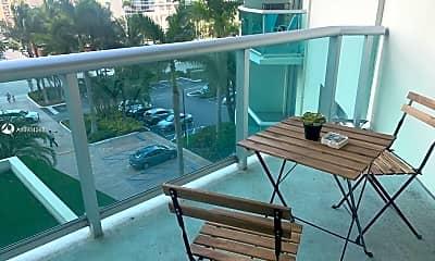 Patio / Deck, 3901 S Ocean Dr 5S, 1