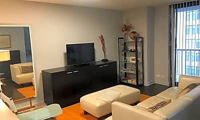 Living Room, 10 E Ontario St APT 1007, 1
