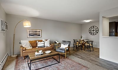Living Room, Wedgewood Park Apartments, 1