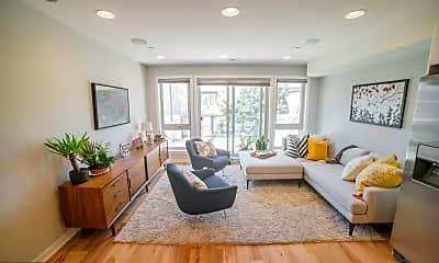 Living Room, 2046 Federal St C, 1