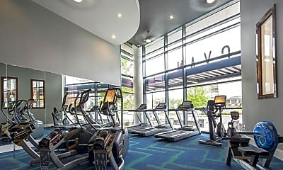 Fitness Weight Room, Cyan On Peachtree, 0