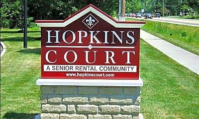 Community Signage, Hopkins Court Apartments, 0