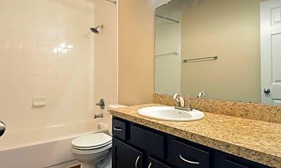 Bathroom, Belmont Place & La Fontaine Apartments, 2