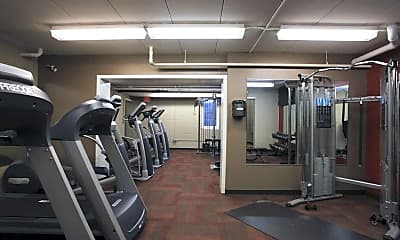 Fitness Weight Room, EnVision Apartments, 2
