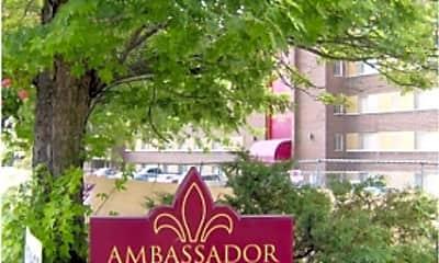 Community Signage, Ambassador Apartments, 0