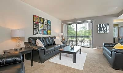 Living Room, Weathervane Apartments, 0
