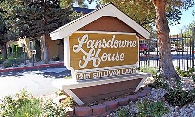 Community Signage, Lansdowne House, 1
