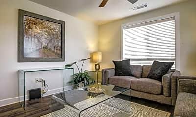 Living Room, Watercolors of Centerton Apartments, 1