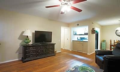 Living Room, Germantown Garden Apartments, 1