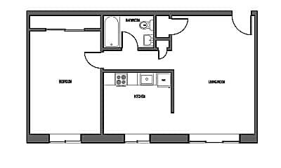 Building, 1015 Afton St, 2