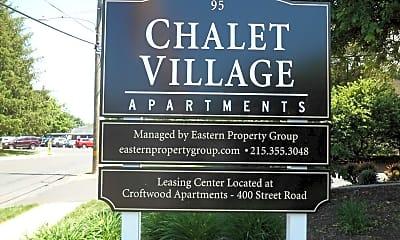 Community Signage, Chalet Village, 1