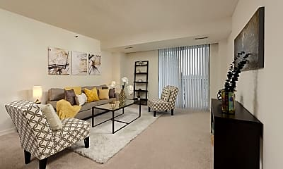 Living Room, Bethesda Place Apartments, 1
