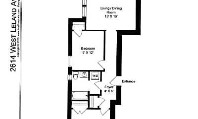 Bedroom, 2614 W Leland Ave, 2