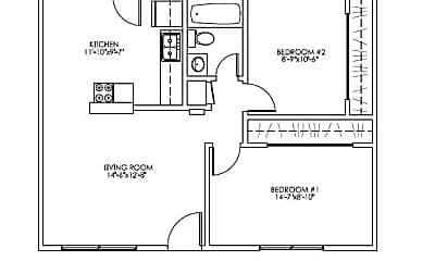 45421 2 bd 1 bth Sunset Lane PD.png, 45421 Sunset Lane, 1