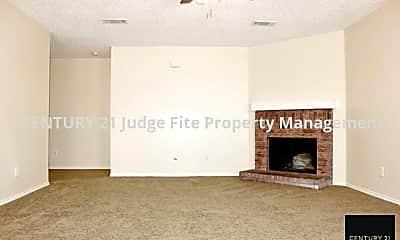 Living Room, 815 Encino Drive, 1