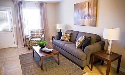 Living Room, Breckenridge Apartments, 1