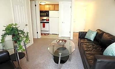 Living Room, 911 S. Locust Apartments, 1