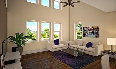 Living Room, River Park Lofts, 1