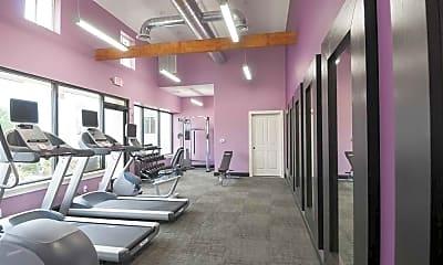 Fitness Weight Room, the metropolitan east goshen estates, 1