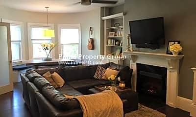 Living Room, 1402 Beacon St, 1