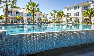 Pool, Southern Pine Apartments, 1