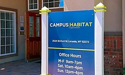 Community Signage, Campus Habitat, 2