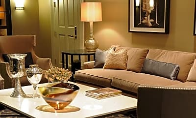 Living Room, The Meridian at Ballston Commons, 2