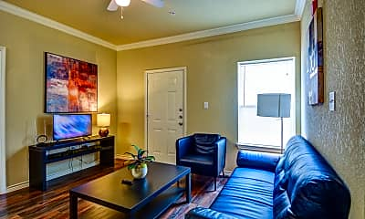 Living Room, Military Village Apartments, 1