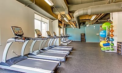 Fitness Weight Room, 345 Flats, 2