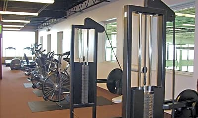 Fitness Weight Room, North Pointe Apartments, 2