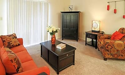 Living Room, Garden Gate Apartments, 1