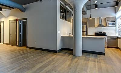 Living Room, AP Lofts at Larkinville, 1