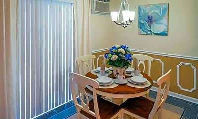 Dining Room, Fox Meadow Apartments, 2