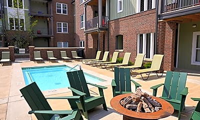 Pool, Lodges of East Lansing-Per Bed Lease, 2