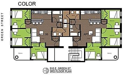 Bathroom, 510 E Green St, 2