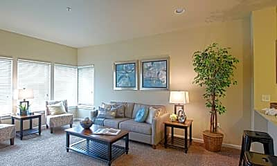 Living Room, Columbia View Apartments, 1