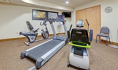 Fitness Weight Room, Banfill Crossing Senior Apartments, 2